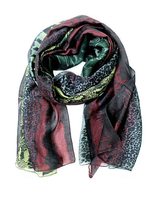 La Fiorentina - Green Animal Print Silk Scarf - Lyst
