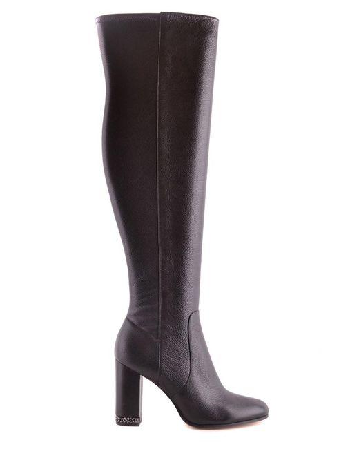 Michael Kors   Women's Mcbi208138o Black Leather Boots   Lyst