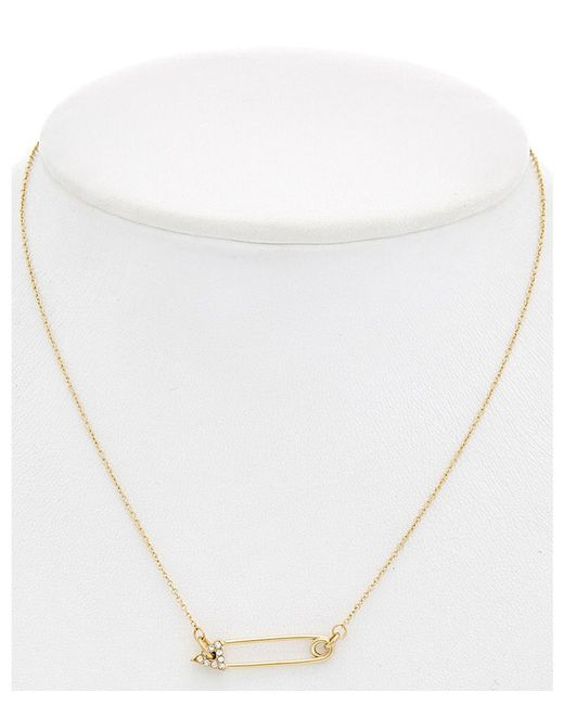 Rebecca Minkoff - Metallic 14 Kt Safety Pin Stud Necklace - Lyst
