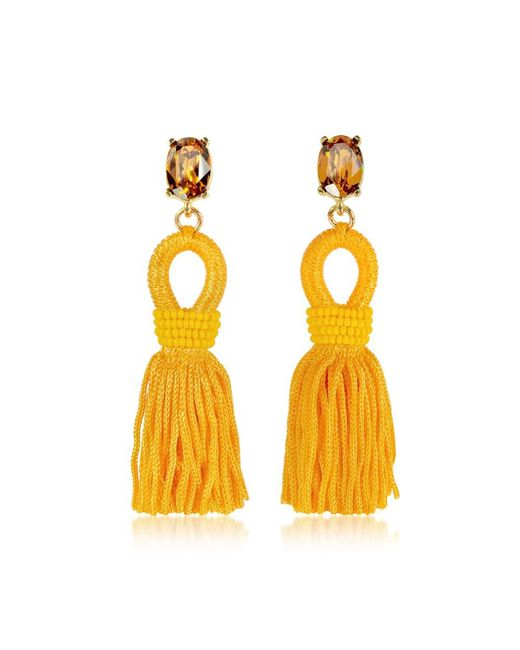 Oscar de la Renta - Women's Orange Silk Earrings - Lyst