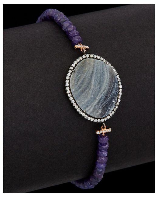 Meira T | Metallic 14k Rose Gold & Silver 6.24 Ct. Tw. Diamond & Druzy Bracelet | Lyst