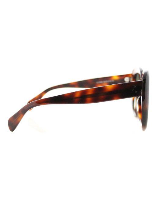56fbedec05 Lyst - Céline Square Plastic Sunglasses in Brown