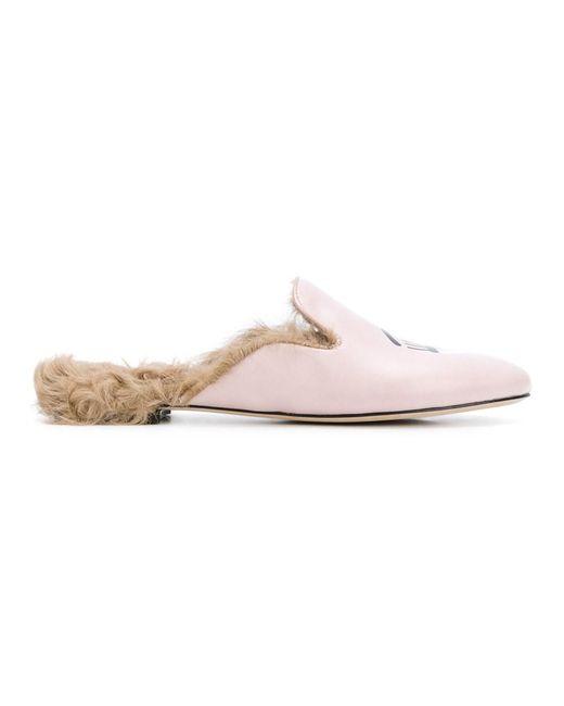 Chiara Ferragni | Women's Pink Leather Loafers | Lyst