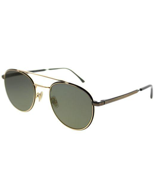 c1bc4812ba2 Jimmy Choo - Metallic Dave 2m2 k1 Black Gold Round Sunglasses - Lyst ...