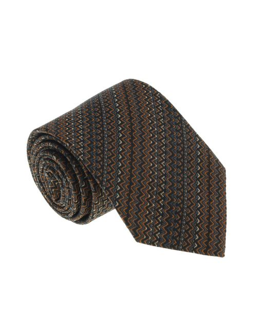 Missoni - Multicolor U5059 Orange/gray Chevron 100% Silk Tie for Men - Lyst