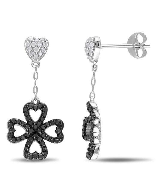 Catherine Malandrino - Metallic Heart Clover Drop Earrings - Lyst