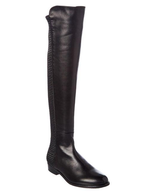 Stuart Weitzman - Black Allgood Leather Boot - Lyst