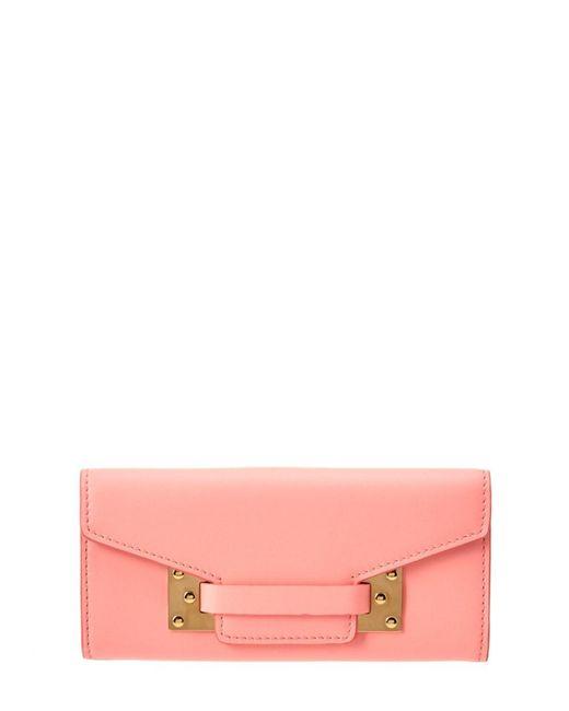 Sophie Hulme | Pink Milner Leather Flap Wallet | Lyst