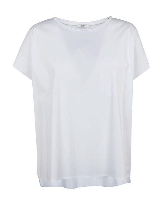 Peserico - Women's White Cotton T-shirt - Lyst