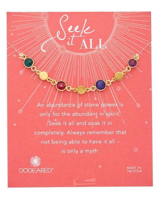 Dogeared - Multicolor Seek It All 14k Over Silver Gemstone Bracelet - Lyst