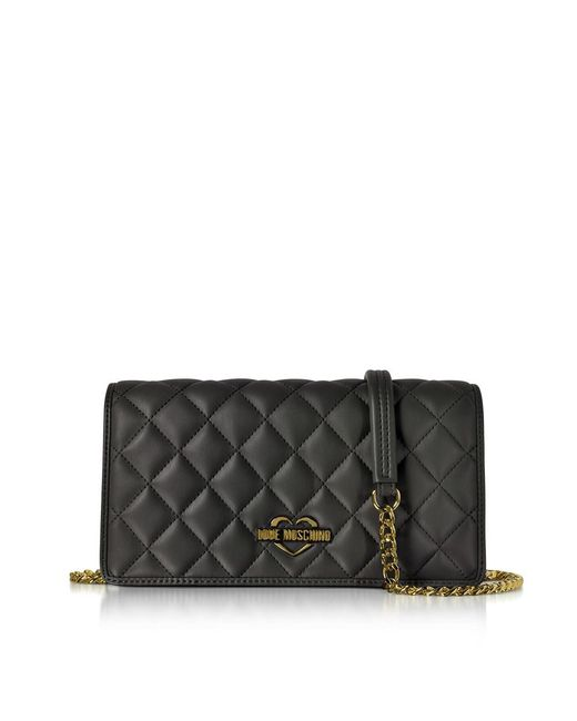 Love Moschino - Women's Black Leather Shoulder Bag - Lyst