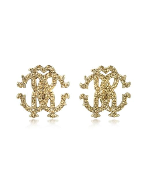 Roberto Cavalli - Metallic Women's Gold Metal Earrings - Lyst