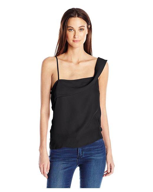 Kensie - Black One Shoulder Crepe Top - Lyst
