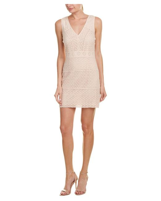 French Connection - Natural Schiffley Summer Cage Sheath Dress - Lyst