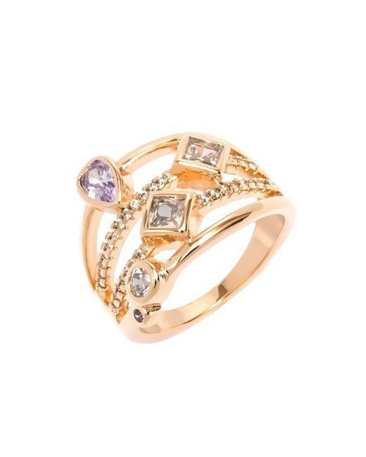 Peermont - Metallic White And Purple Cz Ring - Lyst