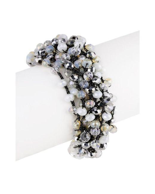 Saachi - Metallic Mardi Beaded Bracelet - Lyst