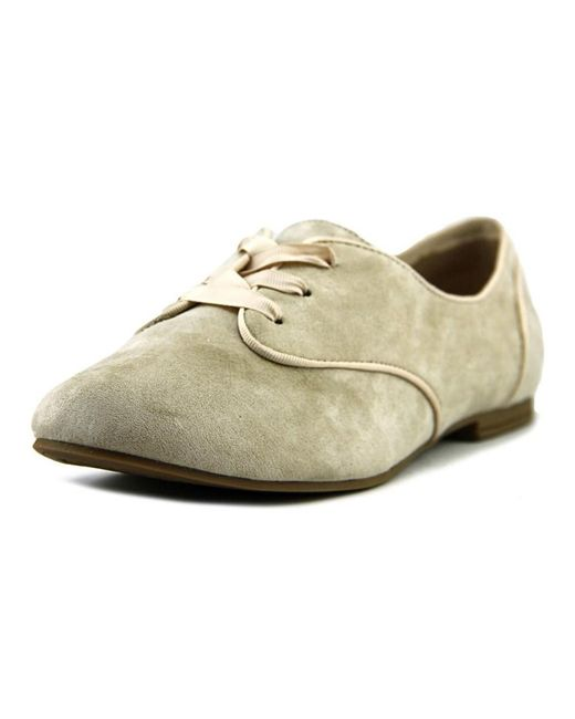 ALDO | Natural Olylia Women Round Toe Synthetic Tan Oxford | Lyst