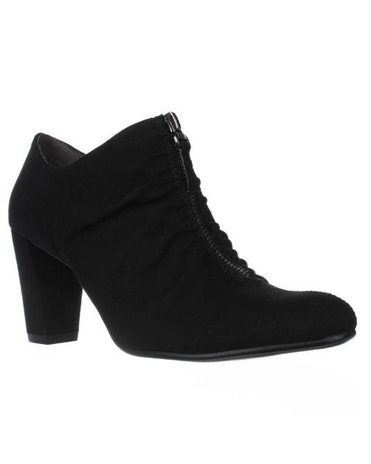Aerosoles - Fortunate Front Zip Scrunch Ankle Boots, Black - Lyst