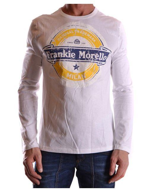 Frankie Morello - Men's Mcbi125045o White Cotton T-shirt for Men - Lyst
