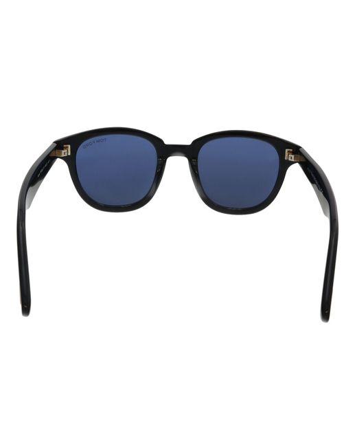 8962b8cba162 ... Tom Ford - Ft0538 01v Black Square Sunglasses for Men - Lyst ...