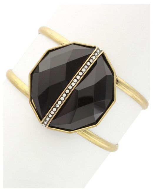 Sparkling Sage - Multicolor 14k Plated Resin Cuff - Lyst