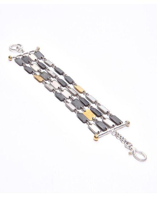 Gurhan | Metallic Soft Dark And White Silver Bracelet | Lyst