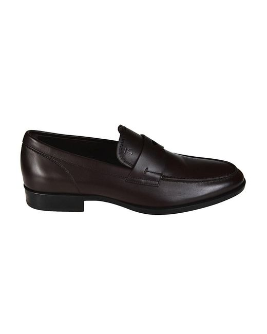 Tod's - Men's Brown Leather Loafers for Men - Lyst