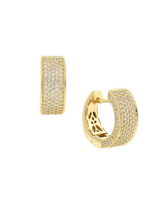 Barzel - Metallic 18k Gold Plated Sterling Silver Gold Plated Cz Huggies Earring - Lyst
