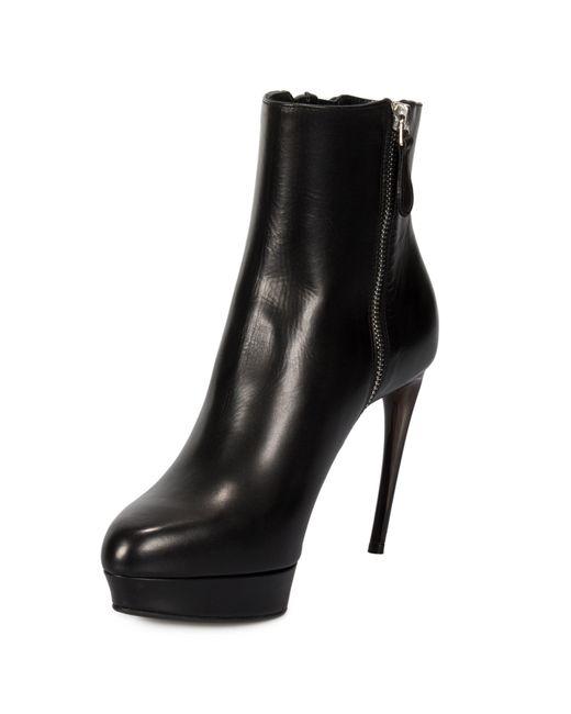 Alexander McQueen - Black Braided Chain Leather Pumps - Lyst