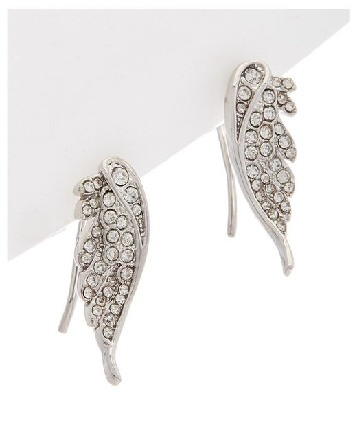 Rebecca Minkoff - Multicolor Crystal Pave Wing Climber Earrings - Lyst