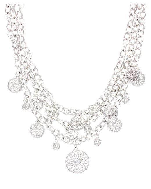 Sparkling Sage | Metallic Plated Crystal Link Necklace | Lyst