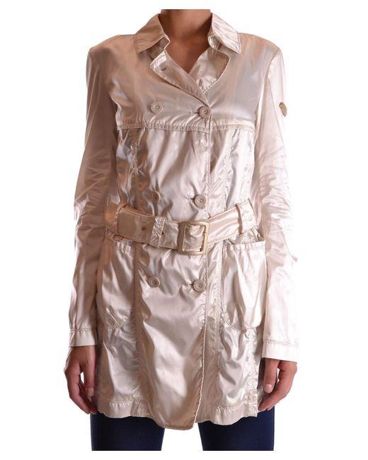 Geospirit - Brown Women's Beige Polyamide Trench Coat - Lyst