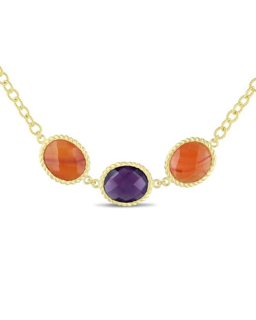 Catherine Malandrino | Yellow Carnelian And Amethyst Necklace | Lyst