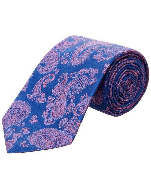 Ike Behar - Blue Navy Paisley Silk Tie for Men - Lyst