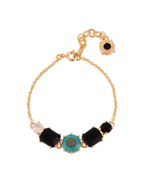 Les Nereides - Black Special La Diamantine 5 Stones And Symbol Of Earth Bracelet - Lyst