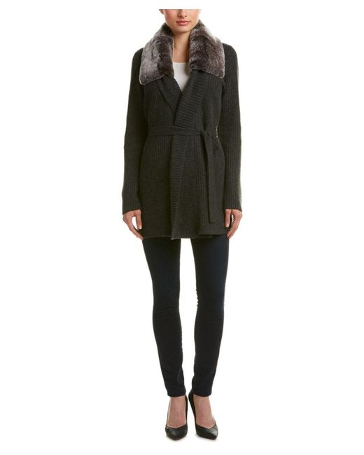 Magaschoni - Gray Wool & Cashmere-blend Cardigan - Lyst