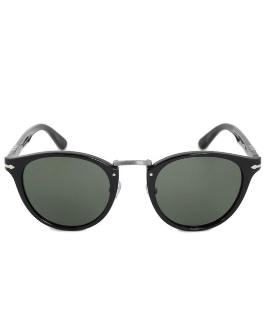 Persol - Black Typewriter Edition Oval Sunglasses Po3108s 95/31 49 - Lyst