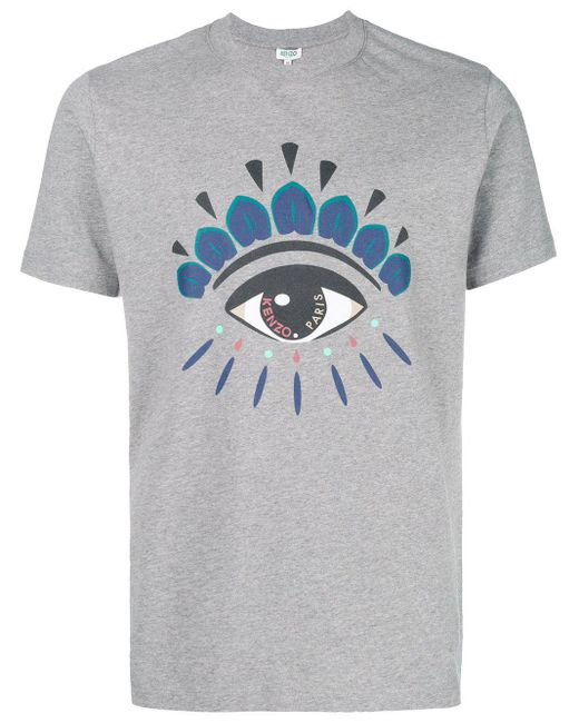 KENZO - Gray Men's Grey Cotton T-shirt for Men - Lyst