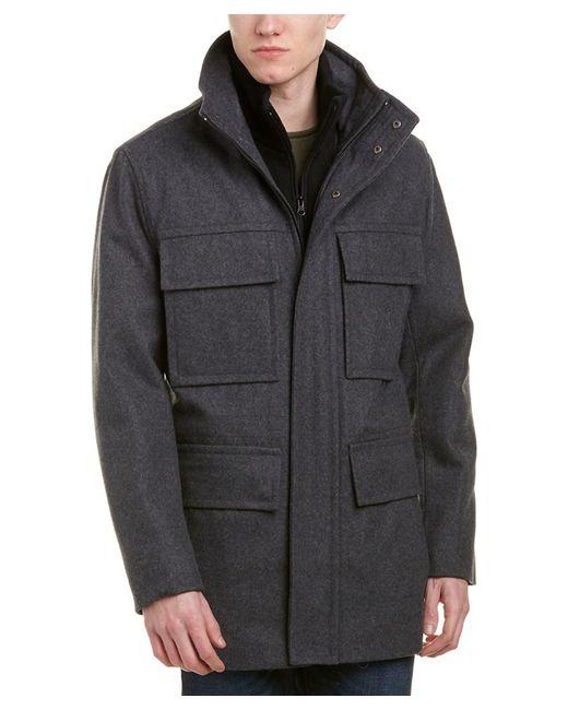 Marc New York - Gray Bevy Wool-blend Coat for Men - Lyst