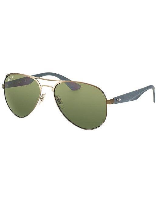 Ray-Ban - Green Aviator Metal Sunglasses - Lyst