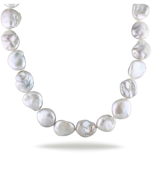 Catherine Malandrino   Metallic Freshwater Baroque Cultured Pearl Strand With Sterling Silver Clasp   Lyst