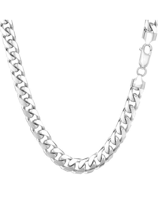 JewelryAffairs - 14k White Gold Miami Cuban Link Chain Necklace, Width 5.8mm, 22 Inch for Men - Lyst