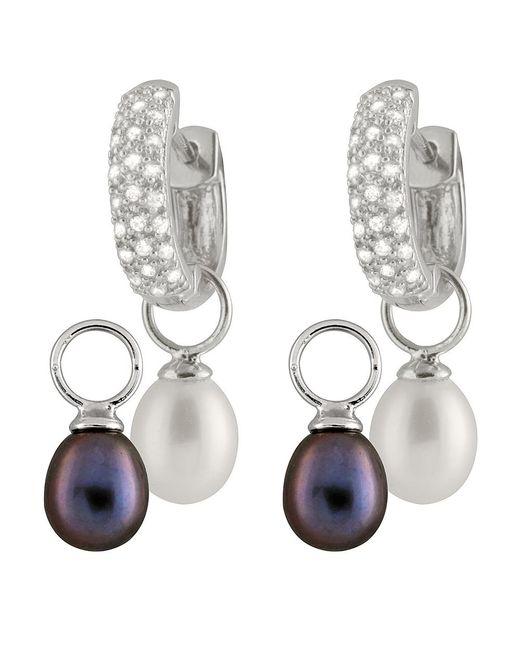 Splendid - Black Day & Night Interchangeable Earrings - Lyst