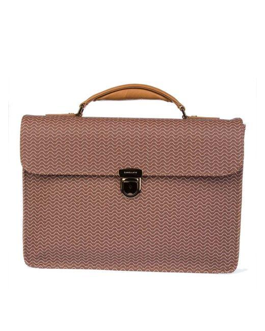 Zanellato - Men's Brown Leather Briefcase for Men - Lyst