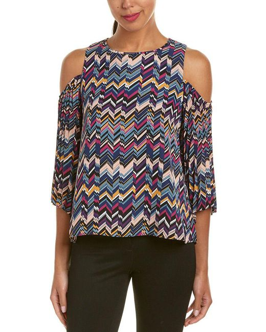 Laundry by Shelli Segal - Blue Top - Lyst