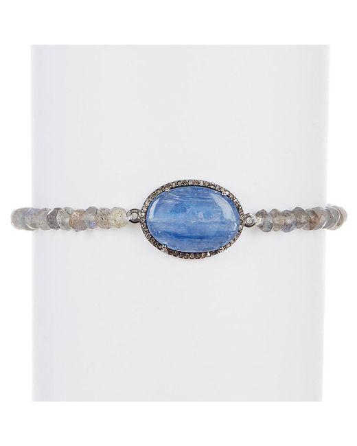 Adornia - Blue Kyanite, Champagne Diamond, And Labradorite Cayenne Bracelet - Lyst