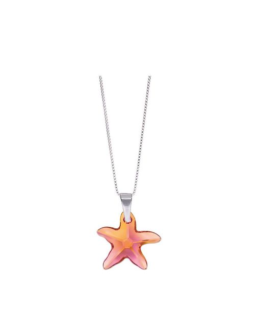 Barzel - Metallic Swarovski Astrail Pink Star Fish Pendant In Sterling Silver - Lyst