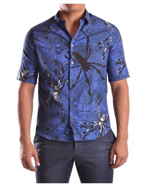 McQ Alexander McQueen - Men's Mcbi206016o Blue Cotton Shirt for Men - Lyst