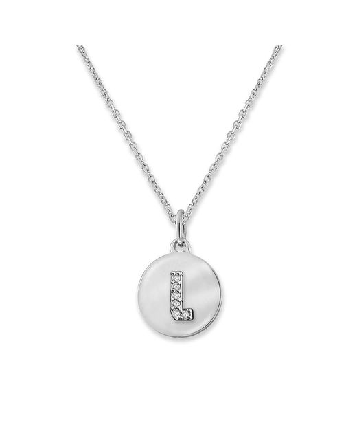 KC Designs - White 14k Gold And Diamond Lowercase Initial Necklace, L - Lyst