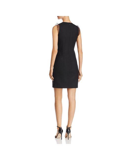 18b8f6b25fb8 ... Elie Tahari - Black Womens Deloria Wool Ruffle Sleeves Cocktail Dress -  Lyst